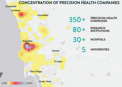 San Diego is now home to more than 350 precision health companies
