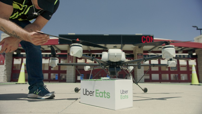 Uber to start using drones for its food delivery and more